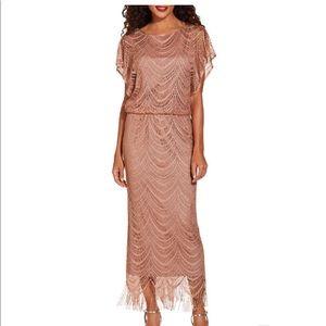 Boston Proper lined lace maxi dress.